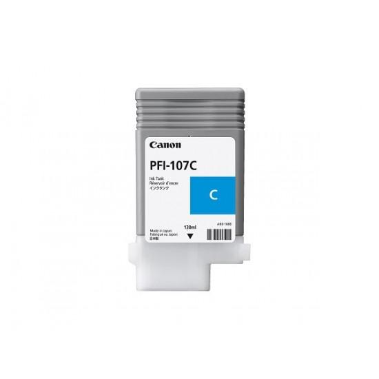 Canon PFI-107C оригинална мастилена касета (циан)