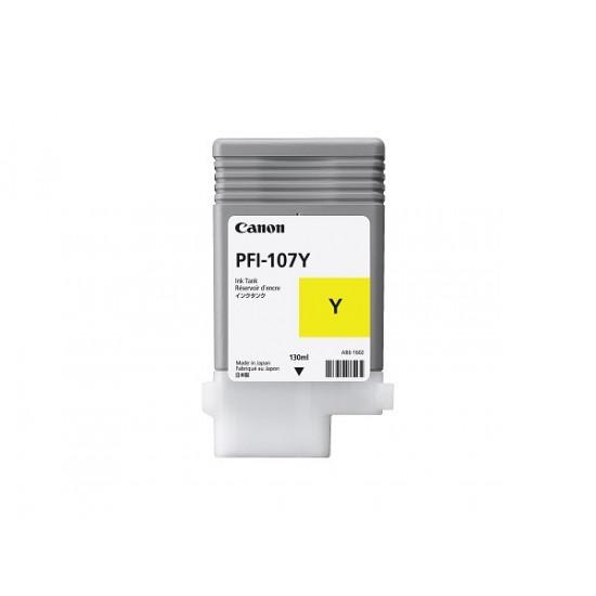 Canon PFI-107Y оригинална мастилена касета (жълт)