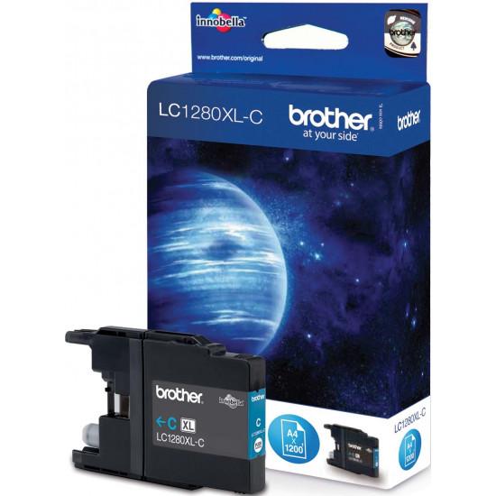 Brother LC1280XL-CY Оригинална мастилена касета (циан)