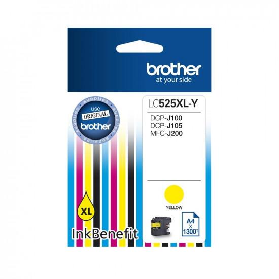 Brother LC525XLY Оригинална мастилена касета (жълта)