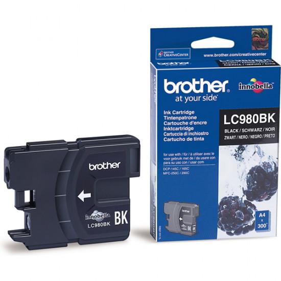 Brother LC980BK Оригинална мастилена касета (черна)
