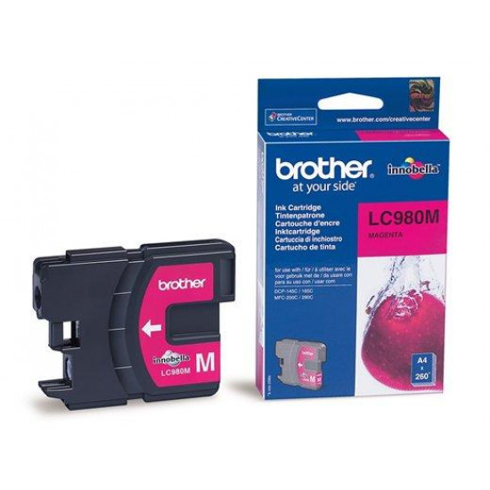 Brother LC980M Оригинална мастилена касета (магента)