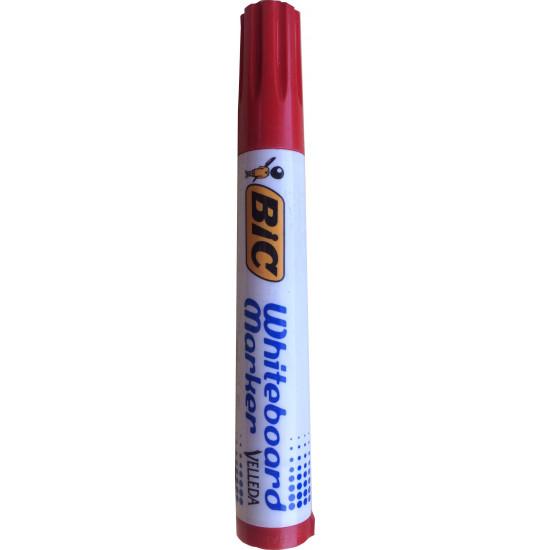 Червен маркер за бяла дъска VELLEDA BIC