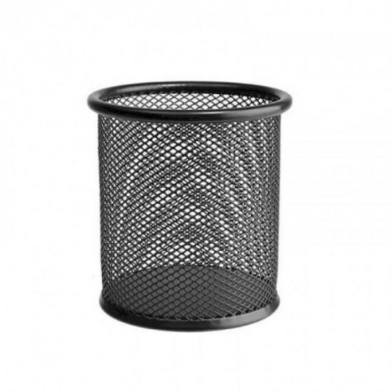 Черен метален моливник мрежа