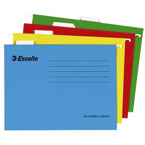 Висяща V-образна папка за картотека Pandaflex зелен