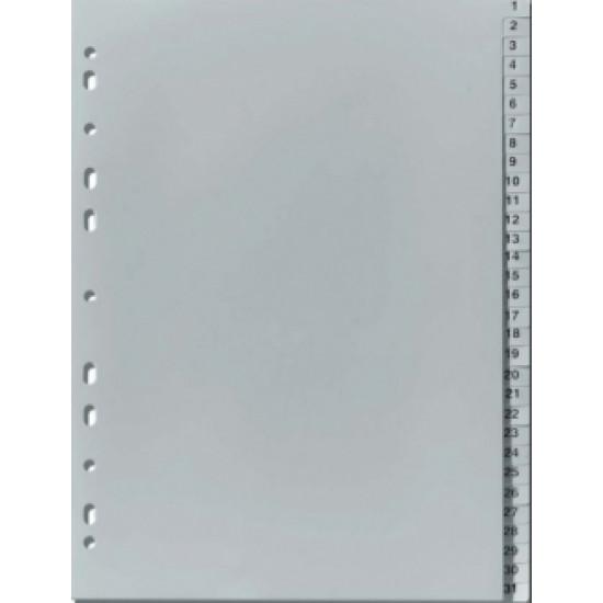 Разделител пластмасов 1-31 цифри Gera Folien