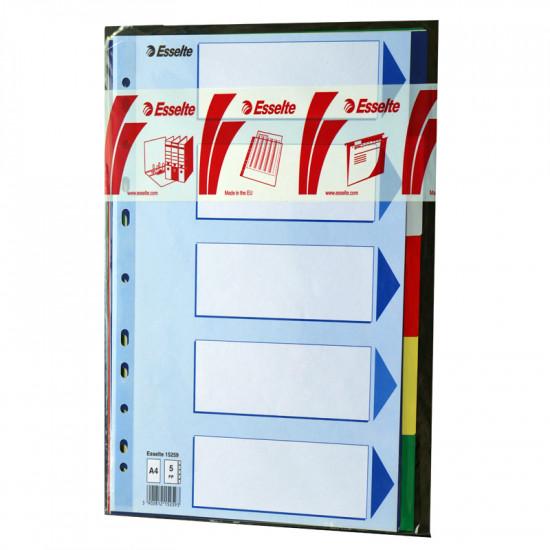 Разделител PVC 5 цвята Esselte