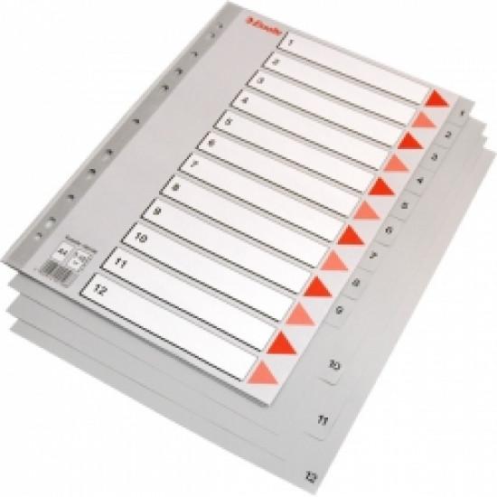 Разделител пластмасов 1-12 цифри Esselte