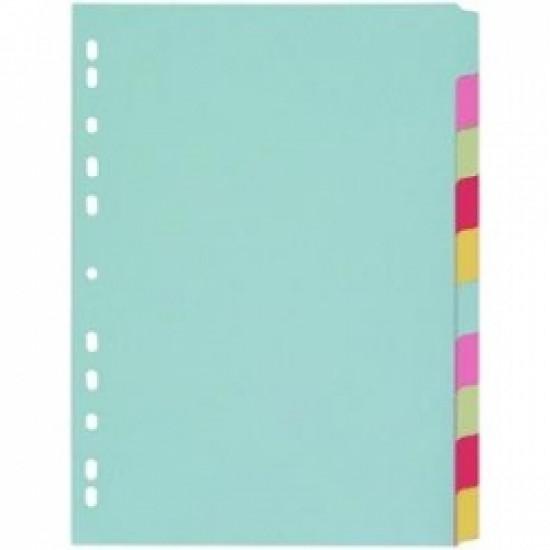 Разделител цветен картонен  10 теми Gera Folien