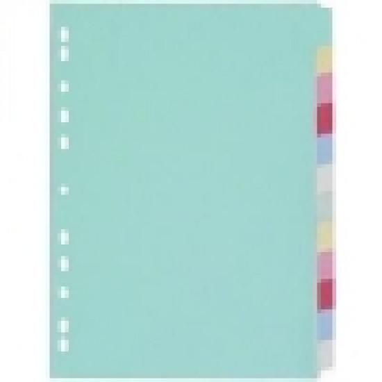Разделител цветен картонен  12 теми Gera Folien