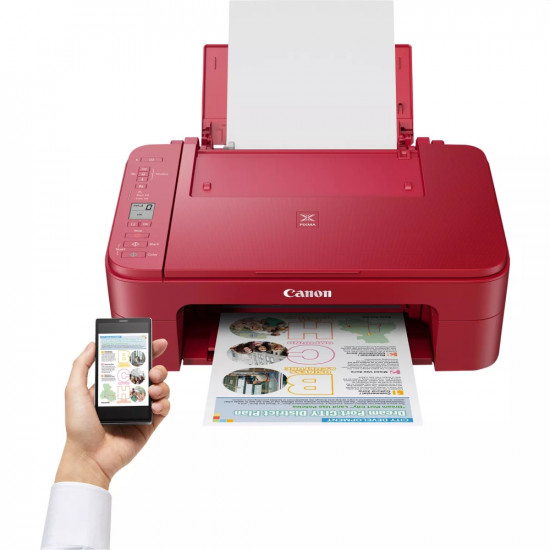 Мастилен многофукционално устройство Canon PIXMA TS3352 All-In-One, Red